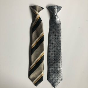 Other - 2 Patterned boys clip on ties